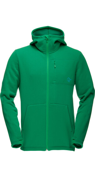 Norrøna M's Narvik Warm2 Stretch Zip Hood Chrome Green
